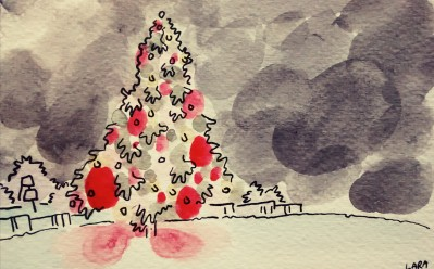 291- Christmas at night in blobs
