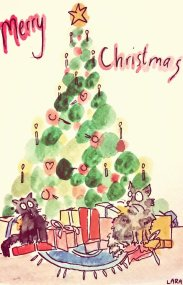 292- Christmas cats