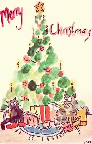 292- Christmas cats