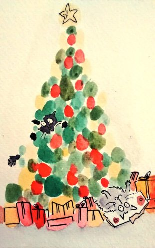 293- Christmas cats