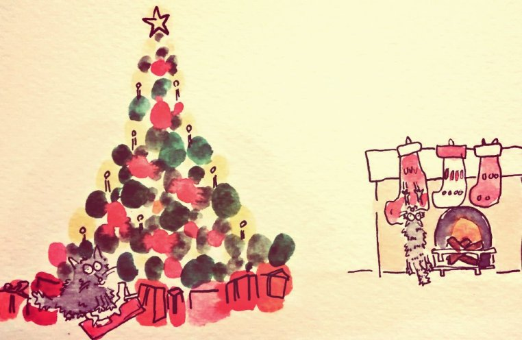 294- Christmas cats