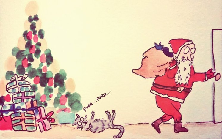 299- Father Christmas and the family cat