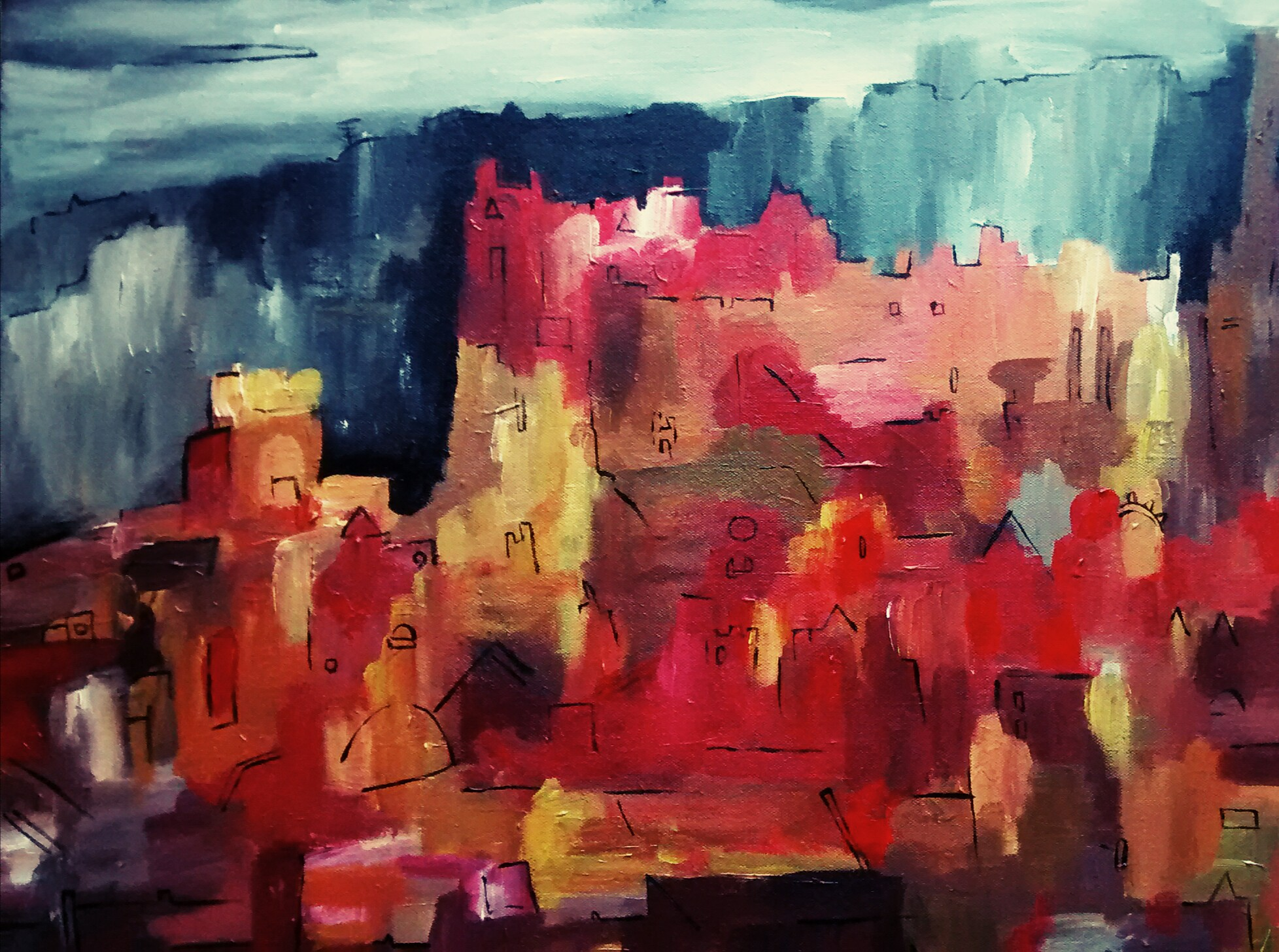 Edinburgh Castle Oct 2014 40x50cm 150 euros