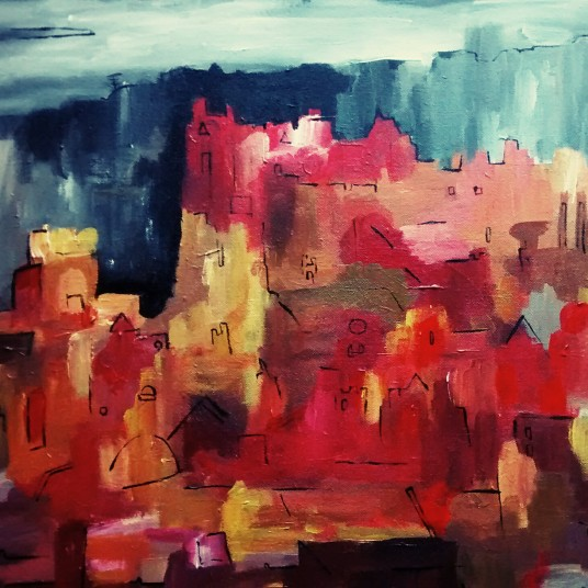 Edinburgh Castle October 2014 40x50cm