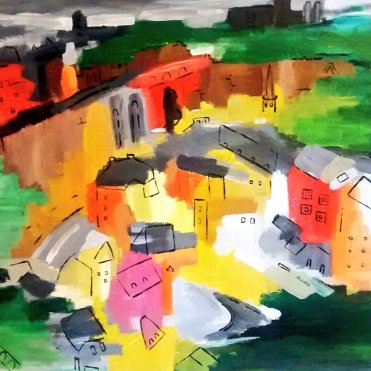 Luxembourg Oct 2014 40x50cm (SOLD)