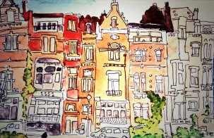 316- Street near Flagey, Brussels