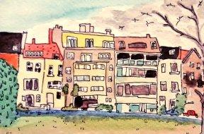 317- Street near Flagey, Brussels