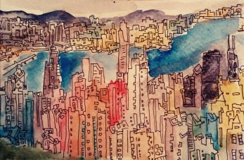 321- Hong Kong from the peak