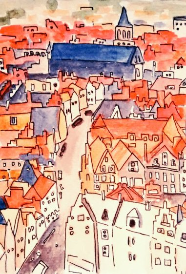 358- Bruges from above