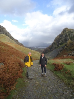 Walking to Grange town in the Lake District