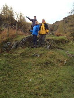Family walk from Borrowdale to Grange