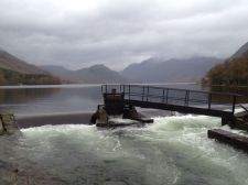 Overflowing Crummock river