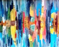 NYC Reflections 2 Jan 2015 40x50cm