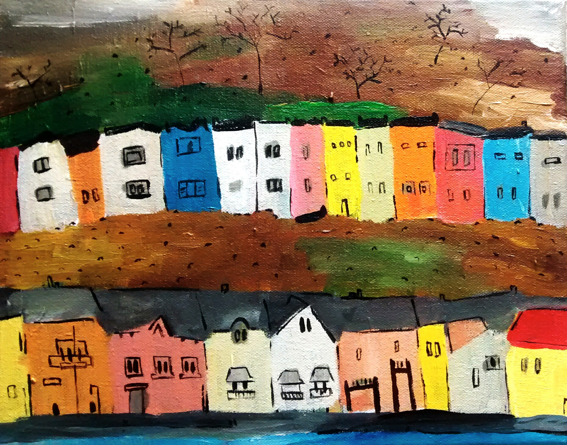 Bristol Painted Houses 24x30cm 75 euros