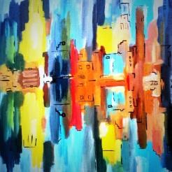NY Reflections July 2014 40 x50 cm (SOLD)