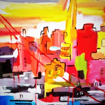 San Francisco Technicolour 30x 40cm (SOLD)