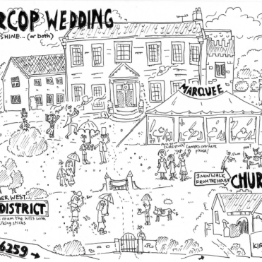 Katherine and David Wedding Map June 2013