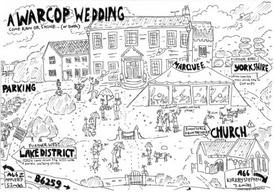 Katherine and David Wedding Map June 2013