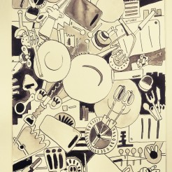 Kitchen Items 20x29cm Pen and Ink Feb 2015
