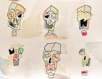 Skulls in repeat (close up)