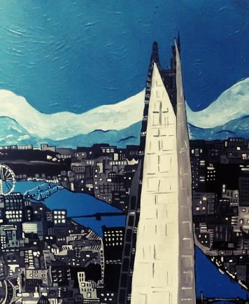 The Shard 50x60cm Oct 2013 (now painted over)